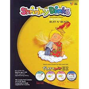 Shrinky Dinks Shrinkable Plastic - 8 x 10 inches - Set of 10