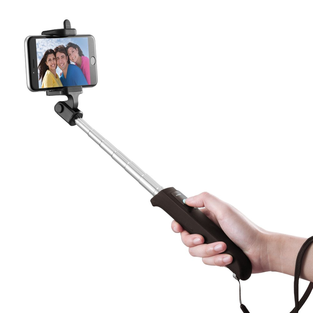 Anker Bluetooth Selfie Stick with 20 Hours Battery Life for iPhone, Android and All Other Smartphones (Black)