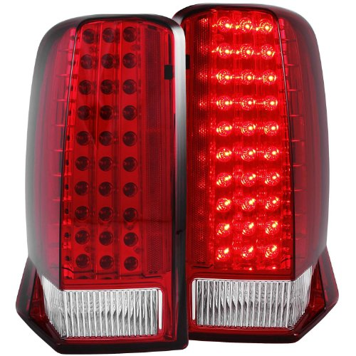Anzo Usa 311120 Cadillac Escalade Red/Clear ( With O Cap) Led Tail Light Assembly - (Sold In Pairs)