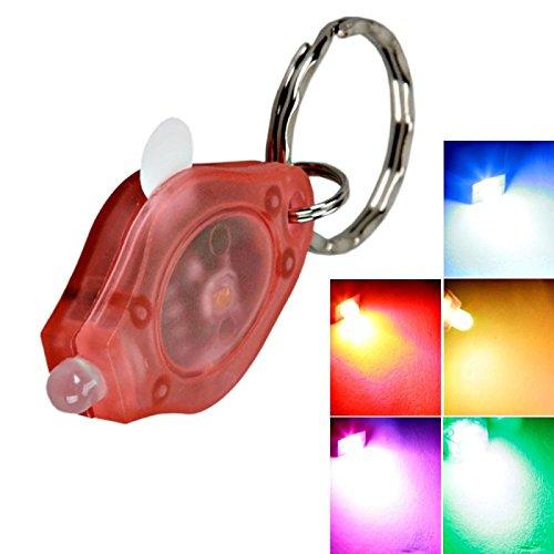LED -Schlüsselanhänger - 1 LED-Lampe bunte Licht Schlüsselanhänger Taschenlampe Rosa