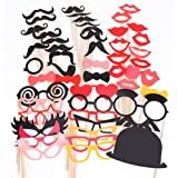 50PCS Colorful Props On A Stick Mustache Photo Booth Party Fun Wedding Christmas Birthday Favor New Design