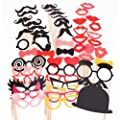 50PCS Colorful Props On A Stick Mustache Photo Booth Party Fun Wedding Christmas Birthday Favor