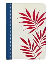 HALLMARK 4.5-Inch x 6.5-Inch Floral Address Book (Red Fern)