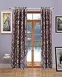 Homefab India Set of 2 Elegance Wine Curtains
