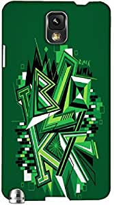 Timpax Protective Hard Back Case Cover Full access to all features. ports of the device including microphone, speaker, camera and all buttons. Printed Design : A green drawing.Specifically Design For : Samsung Galaxy Note 3 ( N9000 )