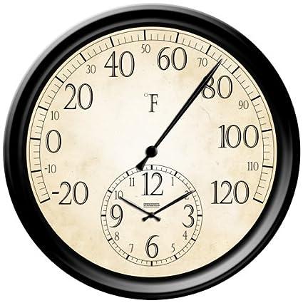 Decorative Patio Thermometer Clock