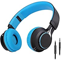 Sound Intone HD30 Stereo Folding Headsets with Stretchable Headband - Blue