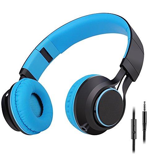 Sound Intone ヘッドフォン 折り畳み式 脱着式 ブルー HD30