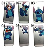 SAKO for iPhone 5C Disney Cartoon Lilo and Stitch Playing/ Grabbing Apple logo Cute Clear Case Cover for Iphone 5C Xmas Gift (Stitch05 for 5C)