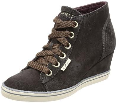ESPRIT Lexa Lu Wedge 083EK1W002, Damen Sneaker, Braun (ebony brown 207), EU 38