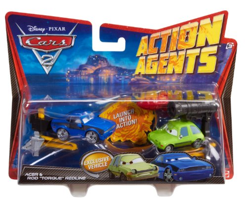 Cars 2 Action Agents Battle Pack Rod Redline and Acer