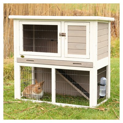 Animal Hutch with Enclosure Size: Small, Color: Gray / White aluminum project box splitted enclosure 25x25x80mm diy for pcb electronics enclosure new wholesale