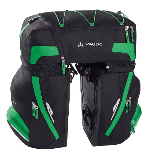 VAUDE Radtasche Karakorum, Black/meadow,