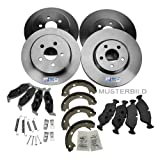 4x Brake discs + Set brake pads + Set brake shoe + Warning contact front and rear axle SAAB 9-5 YS3E 2.0t 2.3t 3.0 V6t FROM 1997; 900 MK II 2 2.0i 2.0 -16 TURBO 2.3 -16 2.5 -24 V6 900 MK II 2 CONVERTIBLE 2.0i 2.0 -16 TURBO 2.3 -16 2.5 -24 V6 1993-98; VAU