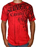 SILVER STAR Windsor Mens UFC MMA Short Sleeve Cotton Logo Print T-Shirt Tee Top Red