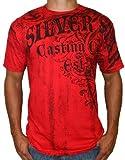 SILVER STAR Windsor Mens UFC MMA Short Sleeve Cotton Logo Print T-Shirt Tee Top Red