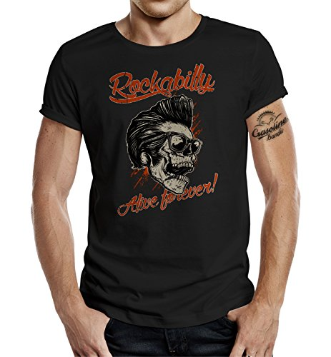 original gasoline bandit design t shirt rockabilly alive forever s. Black Bedroom Furniture Sets. Home Design Ideas