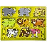 Melissa & Doug Stacking Chunky Puzzle - Safari