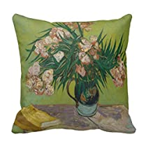 Home Sofa Chair Decorative Square Print Pillow Case Zippered Back Cushion Cover