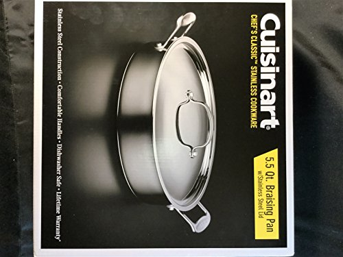 Cuisinart 5.5 Qt. Braising Pan, Chef's Classic Stainless
