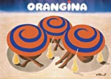 Posters: Bernard Villemot Poster Art Print - Orangina Advertisement (28 x 20 inches)