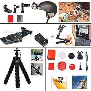 Leknes 54 en 1 Kit d'accessoires Pour SJ4000 SJ5000 GoPro Hero 4 Hero 3+ Hero 3 Hero 2 1 de l'appareil photo numérique,trousse pour Sports De Plein Air Gopro Héros Nage Caméras Grimper En Aviron Le Surf Ski Sortie Vélo Du Camping Tout Autre Plongée G