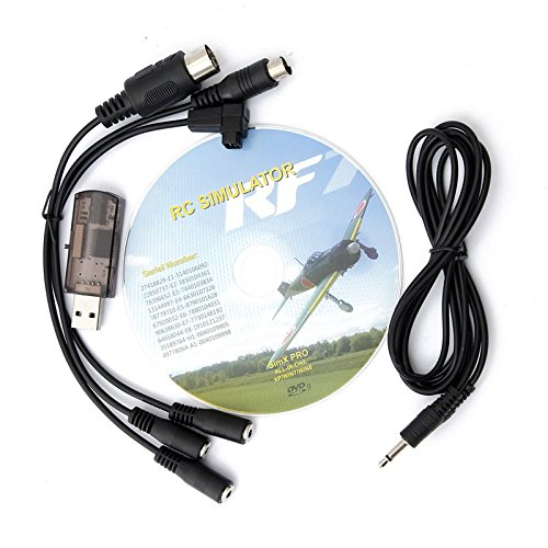 22 in 1 RC USB Flight Simulator Cable for Real flight G7 G6 G5.5 G5 Phoenix 5.0 Upgraded Simulate Helicopter Quadcopter