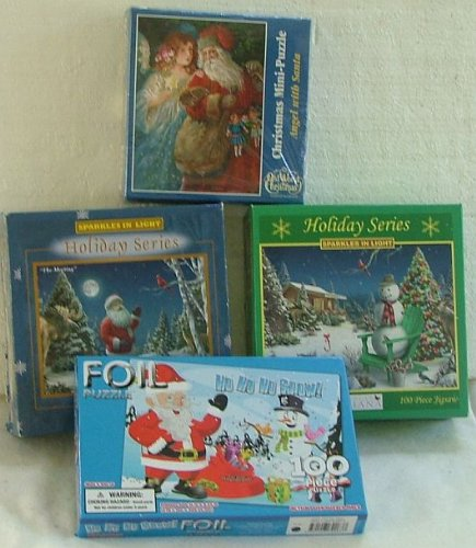 Four Xmas Child Puzzles. Each 100 Pieces - 1