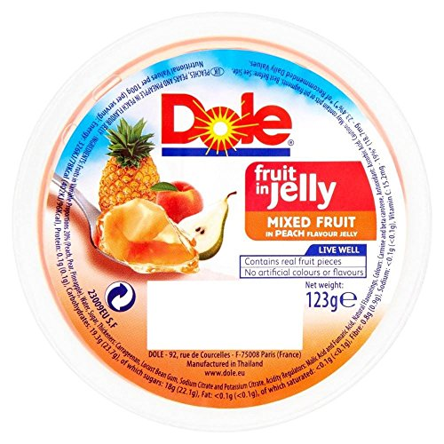 Dole Fruit In Jelly - Mixed Fruit In Peach Jelly (123G)