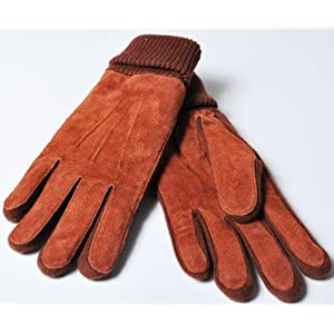本革 ピッグスエードスキングローブ 手袋[oz131] レザー スウェード FREEサイズ キャメル色
