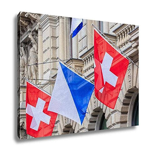 ashley-canvas-facade-of-the-credit-suisse-building-decorated-with-flags-16x20
