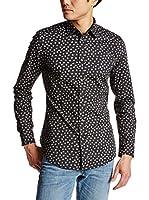 Diesel Camisa Hombre S-Zava (Negro / Gris)