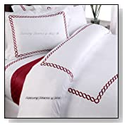 5pc Hotel Collection Bedding Red White