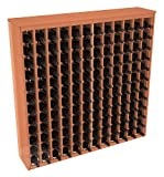 Wooden 144 Wine Bottle Deluxe Cabinet Style Wine Rack Storage Kit (Premium Redwood)