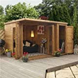 OXFORD: 12ft x 8ft Contemporary Gardenroom Large Combi (12mm T&G Floor)