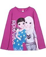 Top Model - Camiseta con cuello redondo de manga larga para niña