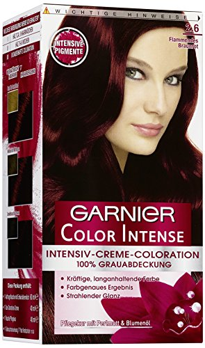 garnier color intense 2 6 flammendes braunrot dauerhafte intensive creme coloration f r. Black Bedroom Furniture Sets. Home Design Ideas