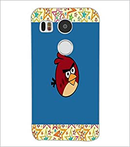 PrintDhaba angry bird D-4744 Back Case Cover for LG NEXUS 5X (Multi-Coloured)