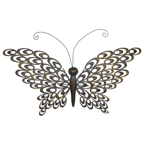 Grasslands Road Butterfly Outdoor Wall Decor, 29-Inch, Bronze, 2-Pack