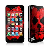 Apple iPhone 4用スキンシール【Red Skull】