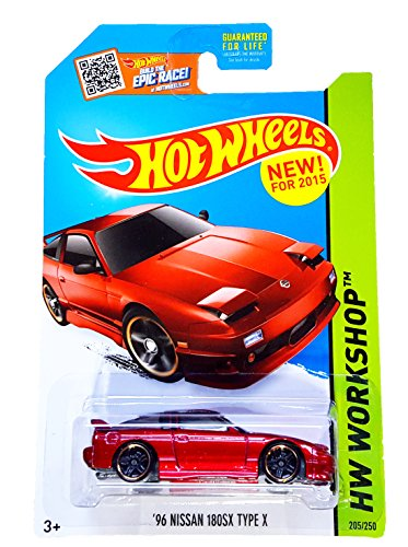 Hot Wheels, 2015 HW Workshop, '96 Nissan 180SX Type X [Red] Die-Cast Vehicle #205/250 (Hot Wheels New For 2015 compare prices)