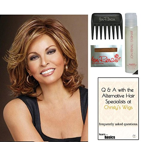 Bundle - 5 items: Embrace by Raquel Welch Wig, Christy's Wigs Q & A Booklet, Wig Shampoo, Wig Cap & Wide Tooth Comb from Raquel Welch