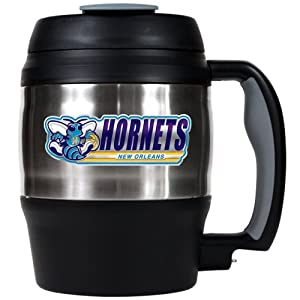 NBA New Orleans Hornets 52-Ounce Stainless Steel Macho Travel Mug with Bottle Opener by Great American Products