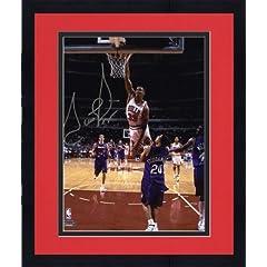 Framed NBA Chicago Bulls Scottie Pippen Autographed 8 x 10 Photo vs. Toronto Raptors... by Sports Memorabilia