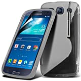 ( Clear ) Samsung Galaxy S3 Neo Case Premium Fitted S Line Wave Gel Case Skin Cover With LCD Screen Protector Guard, Polishing Cloth & Mini Retractable Stylus Pen by Spyrox