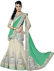 Apka Apna Fashion Women's Net Lehenga Choli (aaf11_Rama White_Free Size)