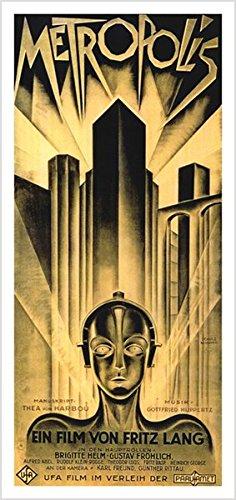 Metropolis VINTAGE MOVIE POSTER 17X36 Futuristic Eerie FILM GEM cult (reproduction, not an original) (Vintage Film Posters compare prices)