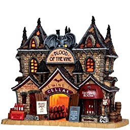 Lemax 35500 BLOOD OF THE VINE Spooky Town Lighted Building Halloween Decor