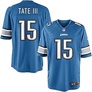 Golden Tate III Detroit Lions NFL YOUTH Blue Game Screen Print Jersey (Small)