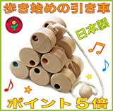 十二輪車 (ロングタイプ)歩きはじめの木のおもちゃ 知育玩具 1才、2才、3才~ 出産祝い 誕生日の贈物 にお薦め♪